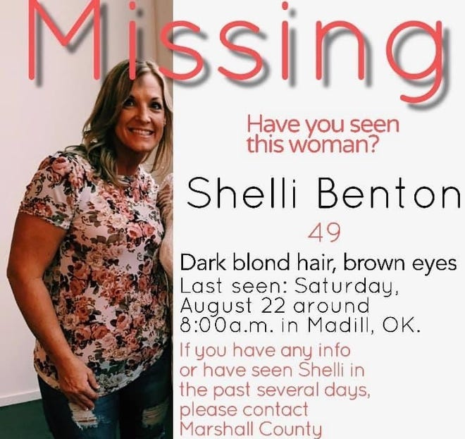 A photo and information on Shelli Benton compiled by her family.