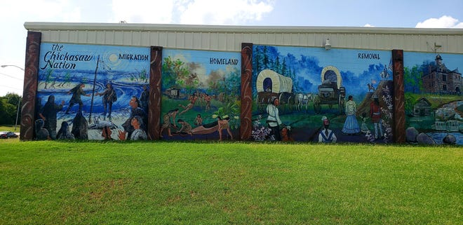 The mural depicting the history of the Chickasaw Nation received a nomination in the team builders, tribal category of the Environmental Excellence Celebration.