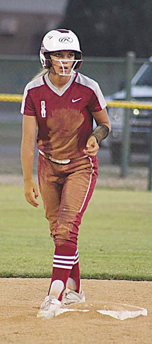 Chesnie Hewitt of Oklahoma Union High is always a threat to steal.