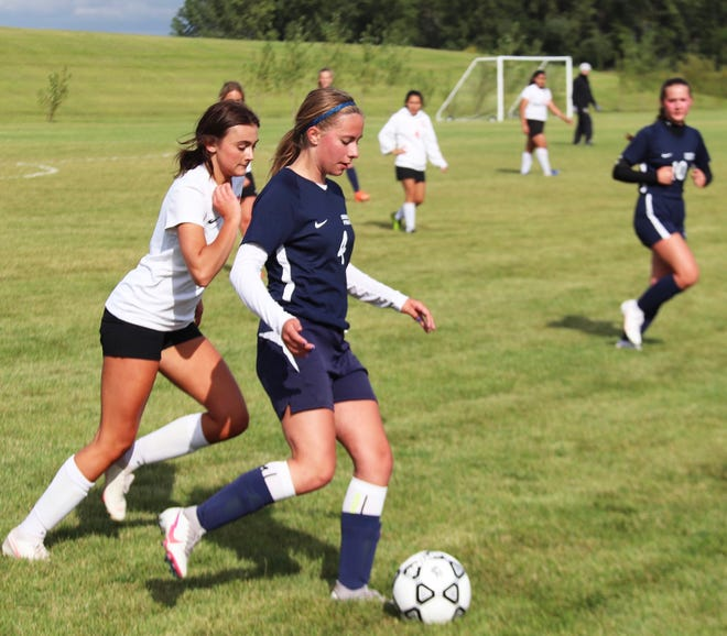 Maddie Harbott scored her first varsity goal in Crookston's 5-1 win over Pelican Rapids on Tuesday.