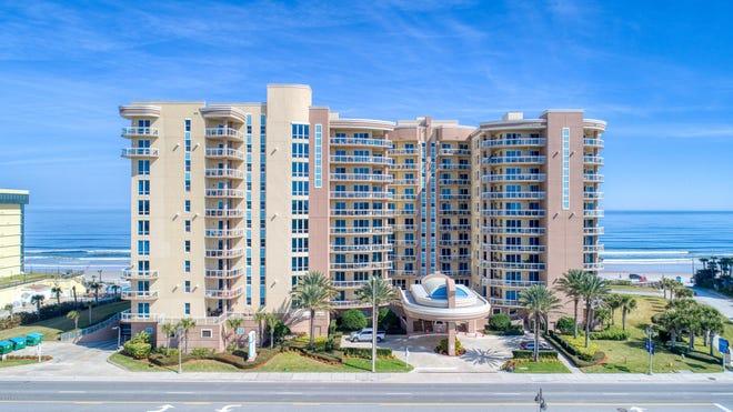 This luxurious condominium estate is located above the sandy beaches of the Atlantic in the Ocean Vistas community of Daytona Beach Shores.