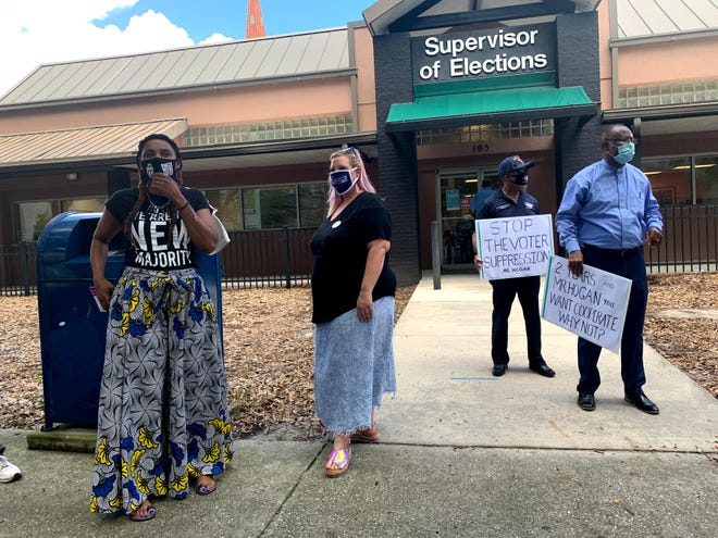 Activists demand Elections Supervisor Mike Hogan to expand voting options in Duval County.