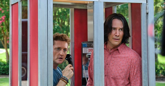 """Keanu Reeves (right) and Alex Winter star in """"Bill & Ted Face the Music."""""""