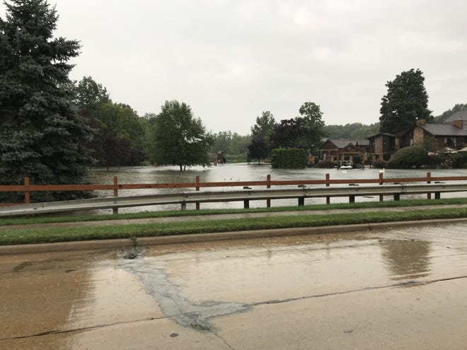 Howe Road in Tallmadge had to be closed due to flooding Sept. 7.