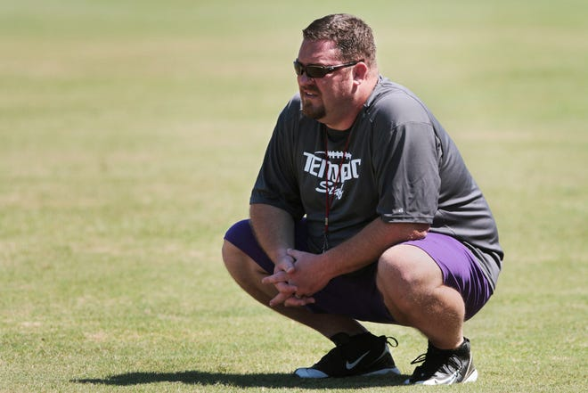 Chris Davidson coached at Tenoroc before leaving to be an assistant at East Ridge for three years. He returned to Polk County in the spring to be offensive coordinator but became head coach when Dedrick Dodge abruptly resigned at the end of August.