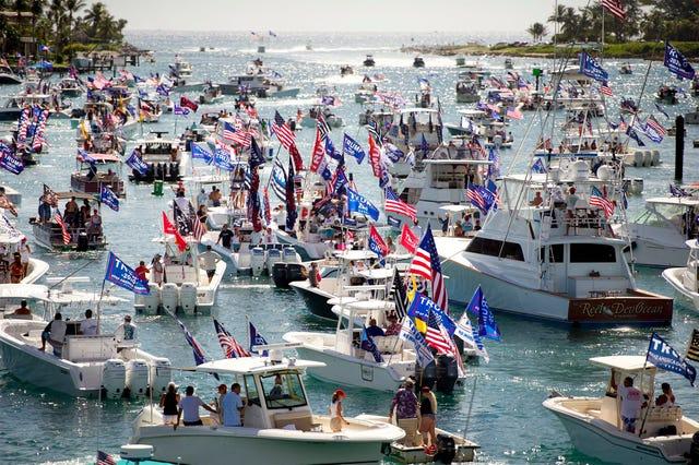 Trumptilla boat parade sees Trump supporters on Intracoastal Labor Day