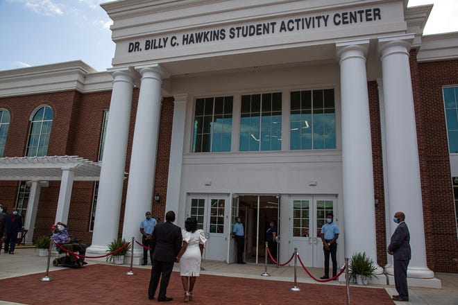 Billy C. Hawkins, a Kent Roosevelt alum, is the first Black president to have a building named after him at Talladega College in Alabama. Hawkins' family, some of whom still live in Kent, participated in celebrations virtually due to the pandemic.