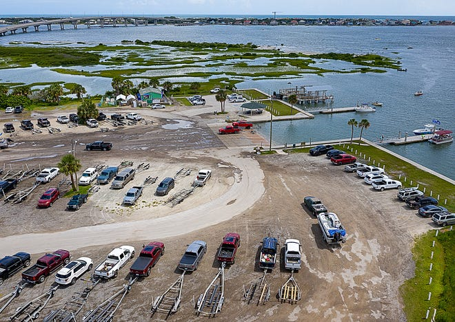 Boaters launch their vessels from a crowded Vilano Boat Ramp, north of St. Augustine, on Labor Day.