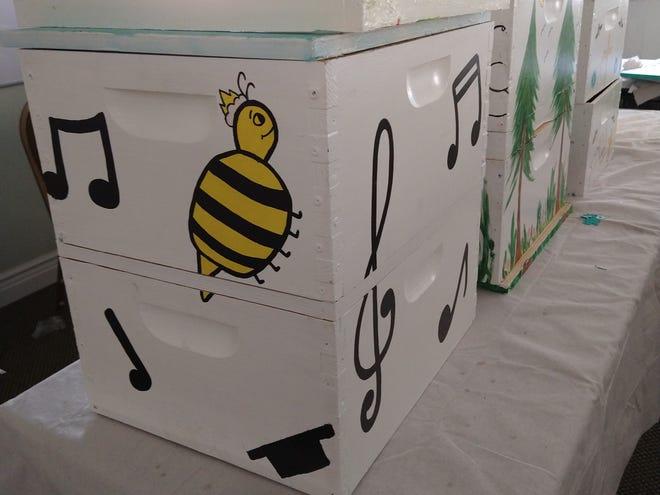 A bee box condominium at Bee Ridge Presbyterian Church.