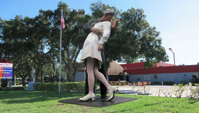 "An artist's rendering of a proposed site for the ""Unconditional Surrender"" sculpture at the Sarasota Sahib Shriners' campus at 600 N. Beneva Road."