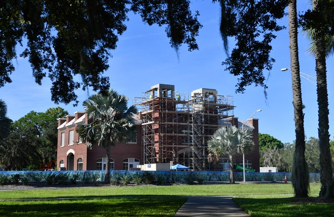 Lift Station 87 in Luke Wood Park on Mound Street near U.S. 301 in Sarasota. Construction on Lift Station 87 is hitting the final stretch, with phase three of construction underway.