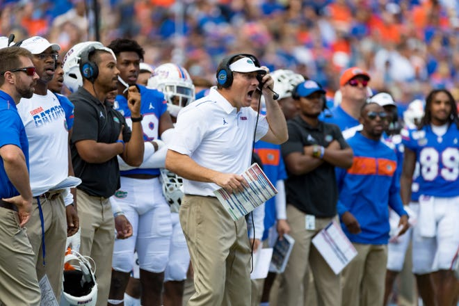 Florida coach Dan Mullen said he saw some sloppiness in the Gators' second scrimmage of the preseason Monday night.