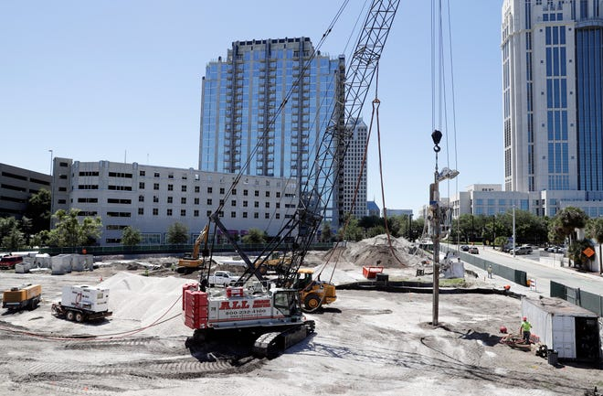 Construction begins on a new building in Orlando in 2019.