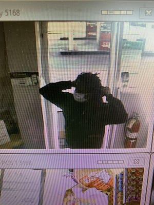 Collinsville police are looking for this person in connection with a reported strong-arm robbery.