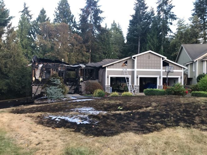 A home on Phillips Road was destroyed in a fire that started Monday afternoon.