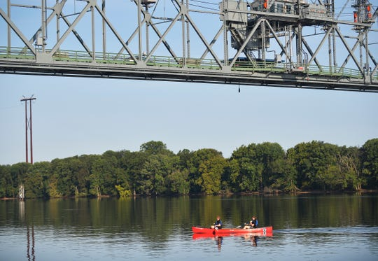 Doane Academy seniors kicked off the school year in Burlington City by canoeing across the Delaware River on the first day of class, Tuesday, Sept. 8, 2020.