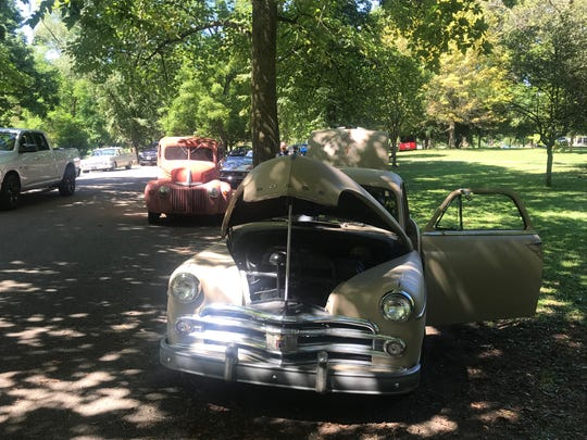 A 1950 Dodge Wayfairer, owned by Walt and Heather Rice of Chillicothe.