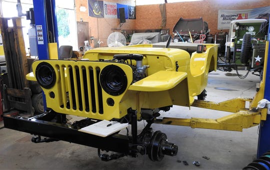 This 1947 CJ28 is being restored at Specialty Jeep of Coshocton.