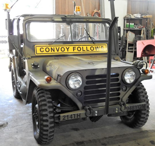 This 1964 M151 military Jeep is owned by Bruce Uher Sr. of Specialty Jeep and is often used for parades and other special events locally.