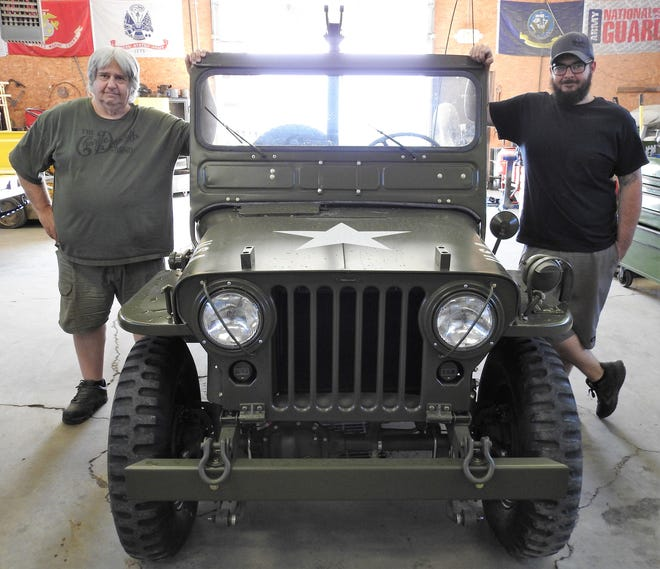 Bruce Uher Sr. and Jr. run Specialty Jeep on Airport Road in Coshocton. They provide restorations, parts and service for Jeeps from around the world.  This Jeep will be part of a future charity raffle for the Journey Home Project and local veterans.