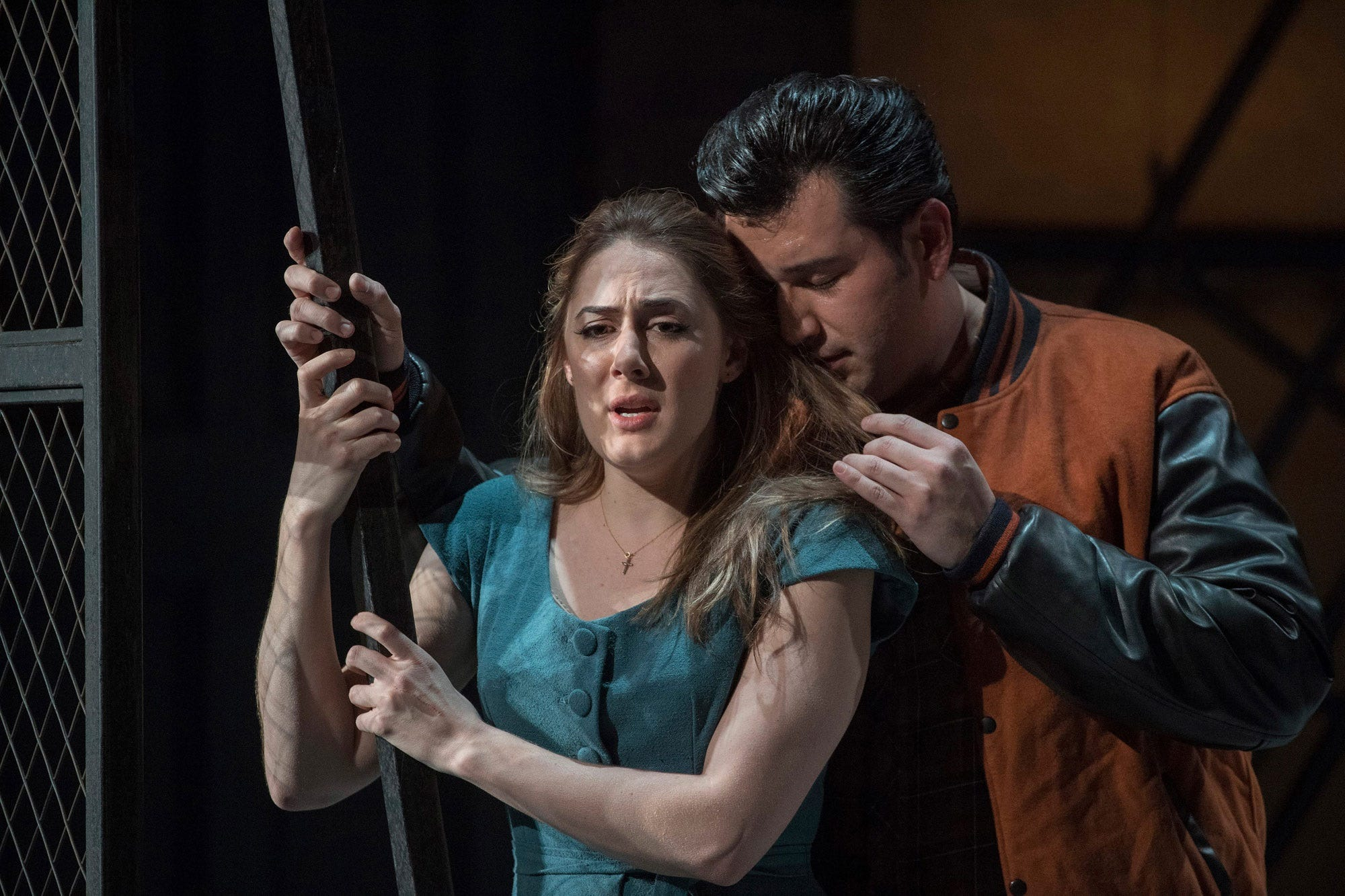 """Yuval Sharon is planning a five-opera season with freshly conceived productions from the opera repertoire like """"Rigoletto."""" In 2017, the Michigan Opera Theatre staged """"Rigoletto"""" with Sydney Mancasola, left, as Gilda and Joshua Guerrero as the Duke in the English National Opera's production."""