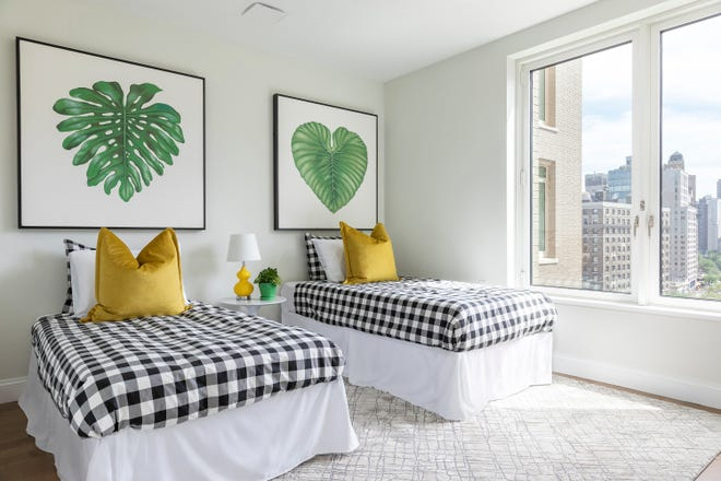 Yellow and green add a burst of citrus to this kid's bedroom. (Handout/TNS)