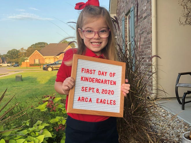 Shelby, 4, starts kindergarten at Acadiana Renaissance Charter Academy in Youngsville Sept. 8, 2020. Send us your first-day-of-school picture to be added to the gallery by emailing Lguidry@theadvertiser.com.