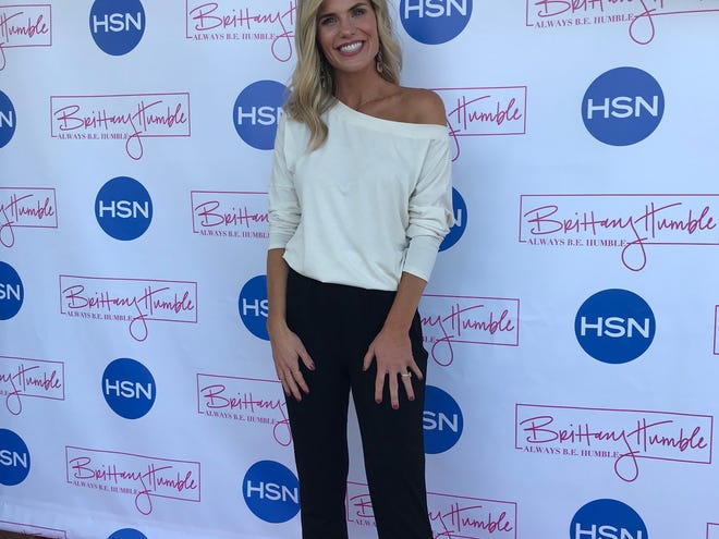 Brittany Humble of Mansfield Tuesday night celebrated her launch party at her boutique B.E. Humble on Stumbo Road in Ontario. Her clothing line is set to debut on HSN on Sept. 17. Lou Whitmire/News Journal