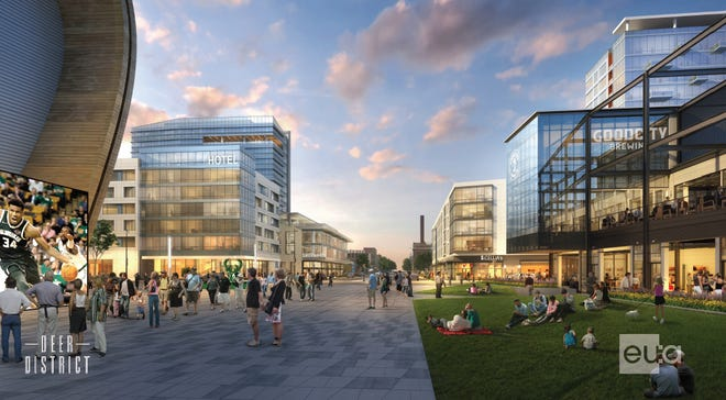 An upscale hotel is coming to a site just north of Fiserv Forum and its entertainment center. The conceptual design is still being refined.