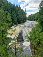 Potawatomi Falls tumbles 30 feet on the Black River in the Ottawa National Forest in Michigan's Upper Peninsula.