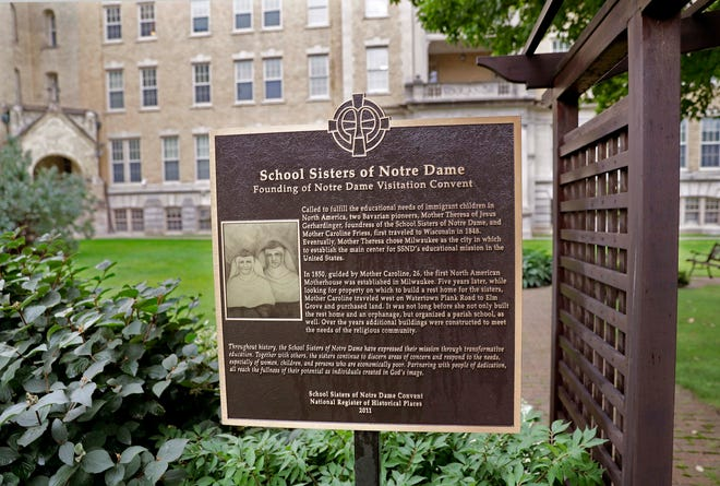 The candidates in the Elm Grove Village Board race have differing views over the redevelopment of the School Sisters of Notre Dame property.