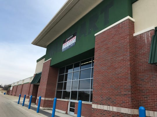 The less-faded paint previously covered by the Walmart store sign reveals the previous occupant of the 107,000-square-foot building in the New Berlin City Center off National Avenue. The store, vacant since 2015, will get new life not only as a 80,000-square-foot Burghardt Sporting Goods facility but also a 25,000-square-foot recreation center owned by the city, under a partnership between New Berlin and Burghardt.