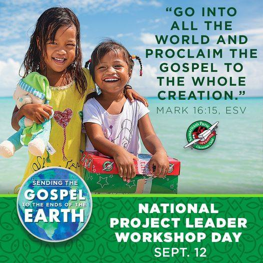 Operation Christmas Child North Central Arkansas is hosting a Project Leader workshop on Saturday.