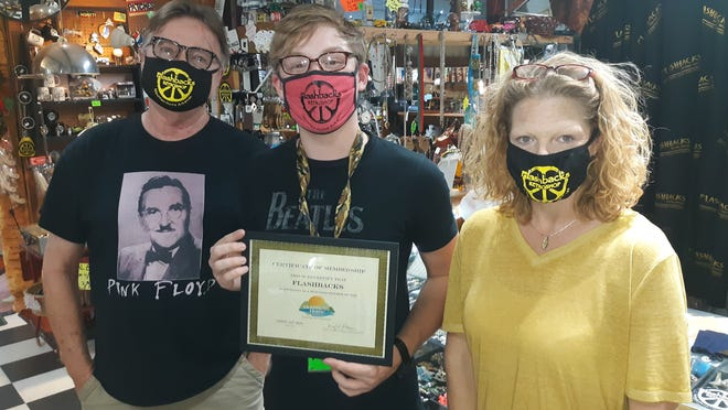 The Mountain Home Area Chamber of Commerce recently inducted Flashbacks Retro Shop into membership. The store, located at 1954 Highway 62 East in Mountain Home, has been a vintage retail establishment with retro goods for both the home and person since 2003. Call (870) 424-8888 or visit their Facebook page for more information. Store hours are Monday through Saturday from 11 a.m. to 6 p.m. (call for winter hours). Chamber membership inductions are held to honor businesses that support the efforts of advancing and promoting the economy of the City of Mountain Home and the Twin Lakes Area.