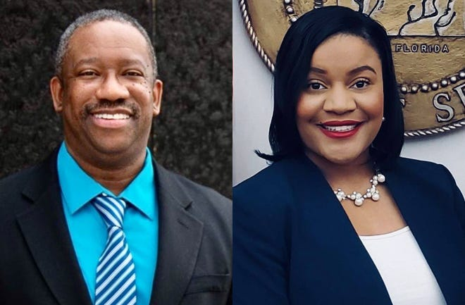 "For Wetumpka Depot's upcoming stage reading of ""The Mountaintop,"" Bradley Bennett, left, will ready the role of Martin Luther King Jr., and Desirae Lewis will read for Camae."