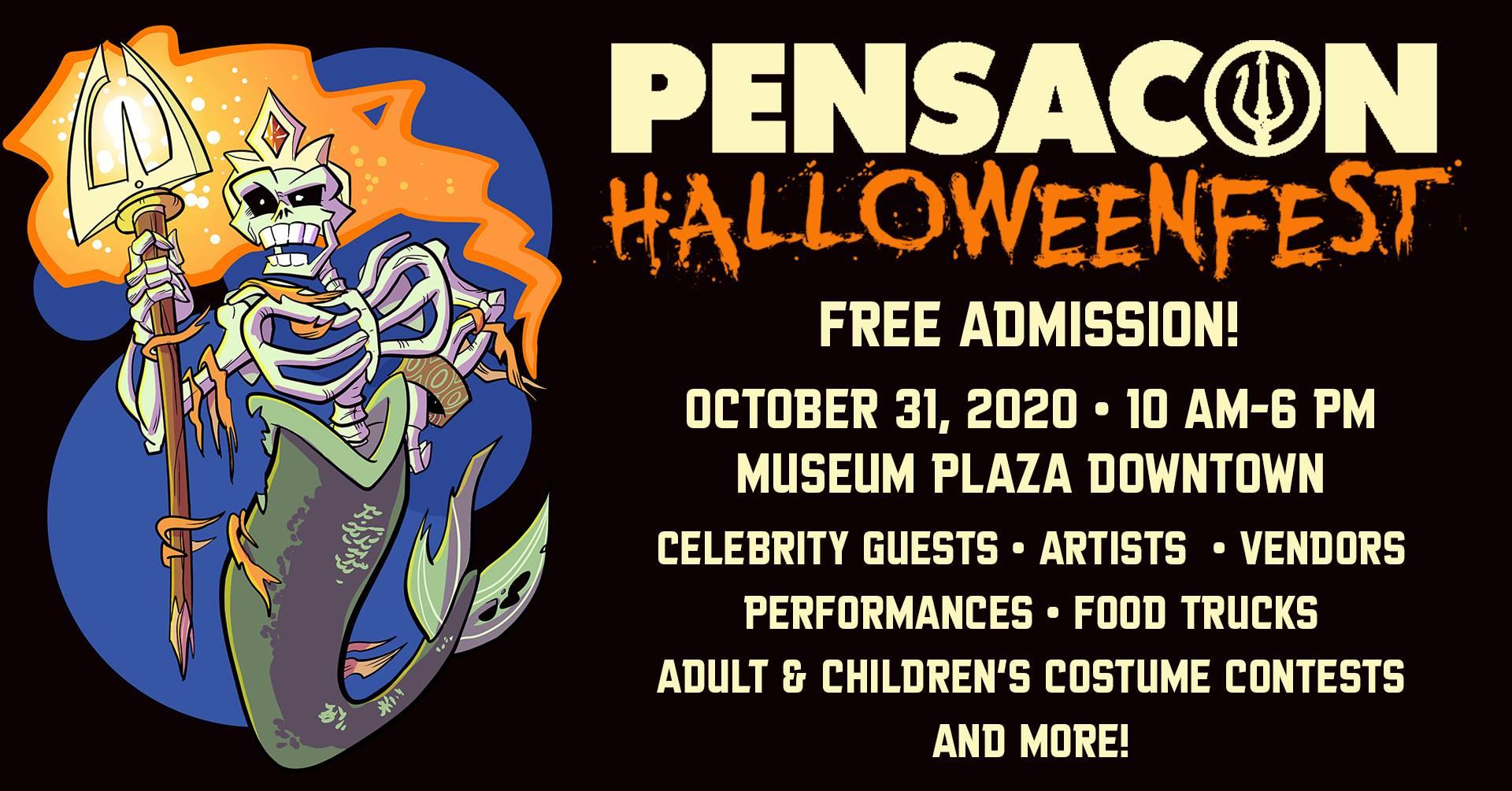 Halloween Pensacola 2020 Pensacon HalloweenFest event set for downtown Pensacola Oct. 31, 2020