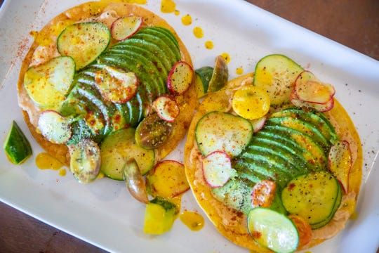Avo Tostados from Pachamama in Phoenix Sept. 6, 2020. The new vegan restaurant plans a grand opening Sept. 16.