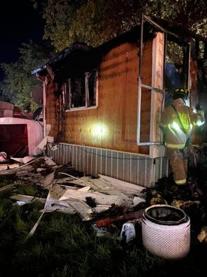 Fire destroyed this mobile home in the 5100 block of Susquehanna Trail in Conewago Twp. on Monday, Sept. 7, 2020, Northern York County Regional Police said.