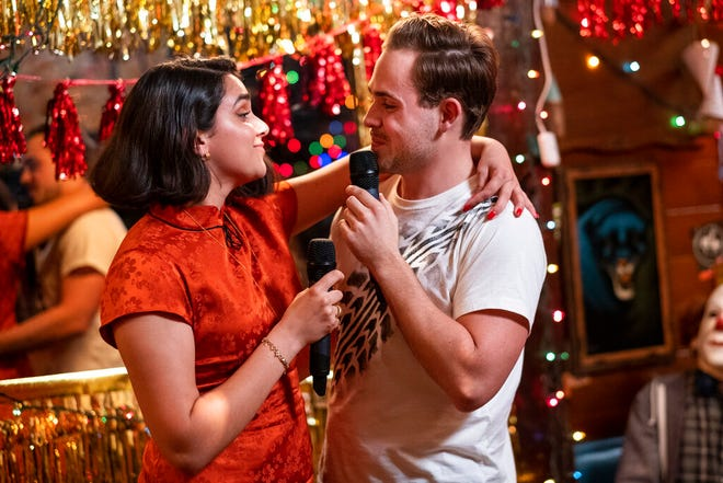 """Geraldine Viswanathan, left, and Dacre Montgomery star in """"The Broken Hearts Gallery."""" The movie opens Thursday at Regal West Manchester, Queensgate Movies 13 and Hanover Movies 16."""