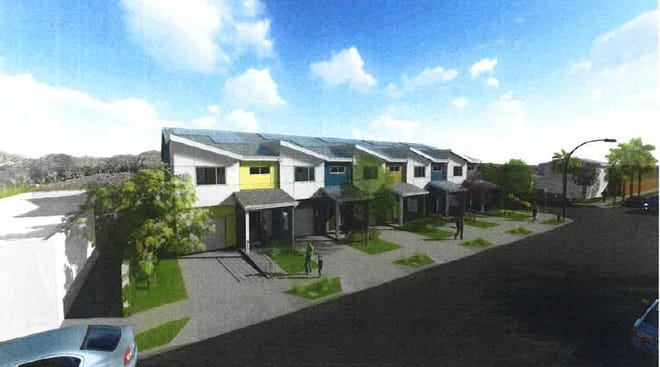 This rendering shows what the Habitat for Humanity town homes in Port Hueneme will look like. The project is the first proposed multi-unit development in the city since 2012.