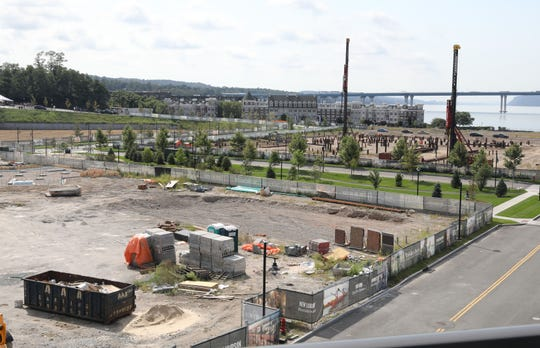 Construction continues at the new Edge-on-Hudson development in Sleepy Hollow, Sept. 8, 2020.