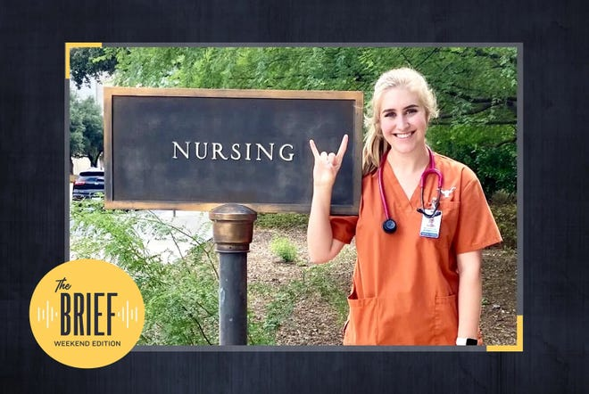 Mary-Grace Scales, of Wichita Falls, was featured on a Texas Tribune podcast last weekend describing what it's like to study nursing at a time when other college students have virtual options.