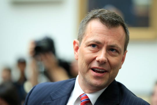 In this July 12, 2018, file photo, then-FBI Deputy Assistant Director Peter Strzok, waits for the start of a House Judiciary Committee joint hearing on Capitol Hill in Washington.