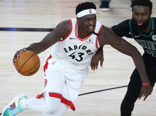 Pascal Siakam is shooting 41.1% from the field in the playoffs.