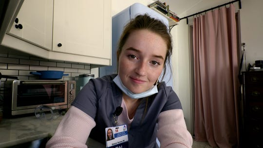 "Kaitlyn Dever plays a Wyoming nurse who travels to New York during the pandemic in HBO's ""Coastal Elites."""
