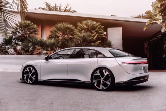 The Lucid Air electric car.