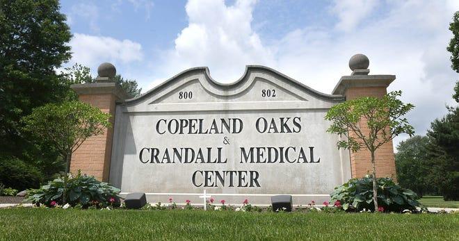 Entrance to Copeland Oaks & Crandall Medical Center in Sebring.  Photo taken June, 10,2020.  (CantonRep.com / Ray Stewart)