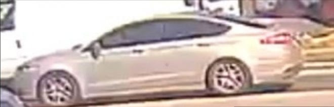 Falls police said a man who shot someone in the township Tuesday was seen in this car.