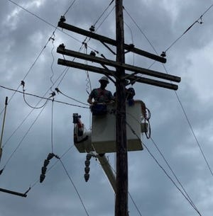 Nearly 80 Gulf Power lineworkers and support personnel worked 11 days in Louisiana, assisting Entergy with restoration efforts following Hurricane Laura.