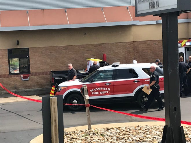 A 69-year-old Ohio man was pronounced dead Wednesday afternoon in his pickup in the drive-thru lane of McDonald's.